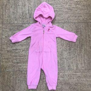 Juicy Couture Pink Fleece Baby Jumpsuit (6/9M)